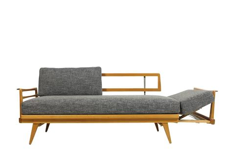 mid century daybed sofa mid century modern sofa knoll antimott beech wood daybed