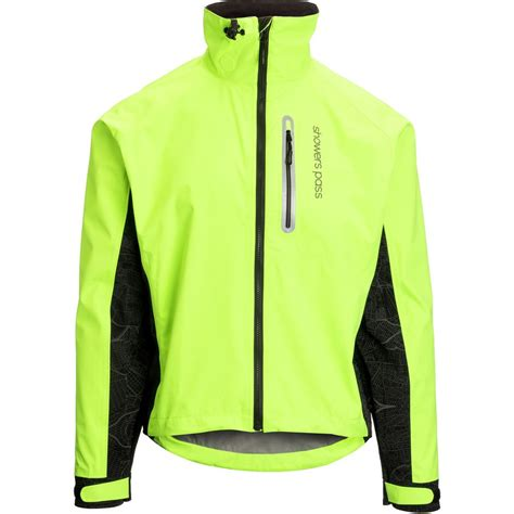 mens hi vis cycling jacket showers pass hi vis elite jacket men s backcountry com