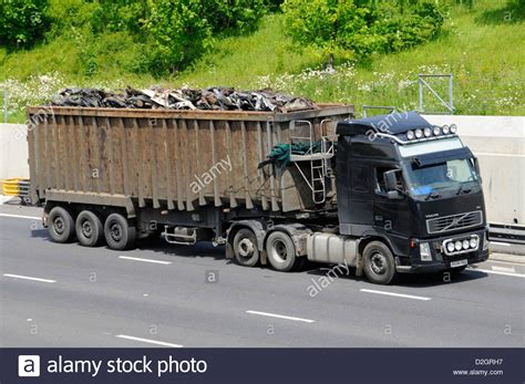 volvo lorry scrap metal load on articulated trailer a volvo