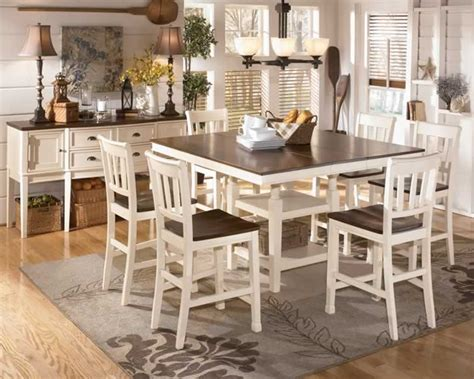 cottage style dining room furniture white dining furniture chicago country style