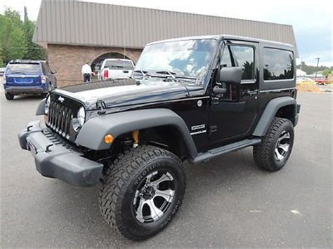 Used 2 Door Jeep Wrangler by Sell Used 12 Jeep Wrangler 2 Door 4x4 Lifted Black Hardtop