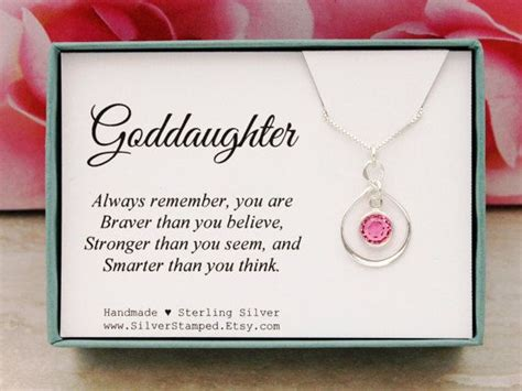 Ee  Gift Ee   For Goddaughter Birthstone Necklace Sterling Silver