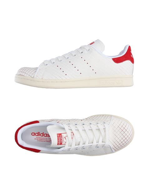 adidas originals low tops sneakers in white lyst