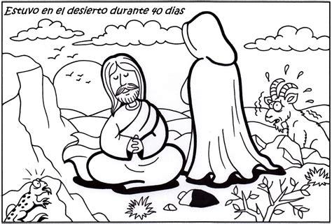 coloring pages jesus tempted desert catequesis de sta de jove febrero 2013