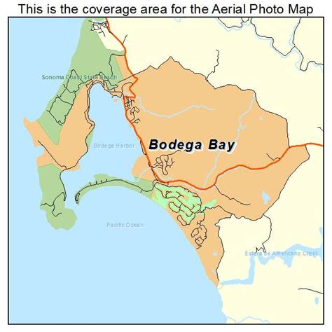 california map bodega bay aerial photography map of bodega bay ca california