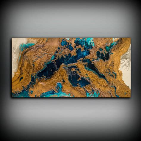 copper wall art home decor giclee abstract fine art print from original acrylic abstract