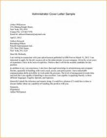 Motivation Letter For Administration Office Administrator Cover Letter Sle Gallery Letter Sles Format