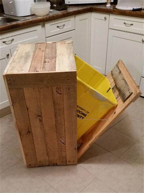 Diy Outdoor Kitchen Island by Pallet Kitchen Trash Can Holder