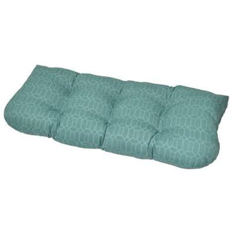 tufted bench cushion hton bay rhodes trellis tufted outdoor bench cushion
