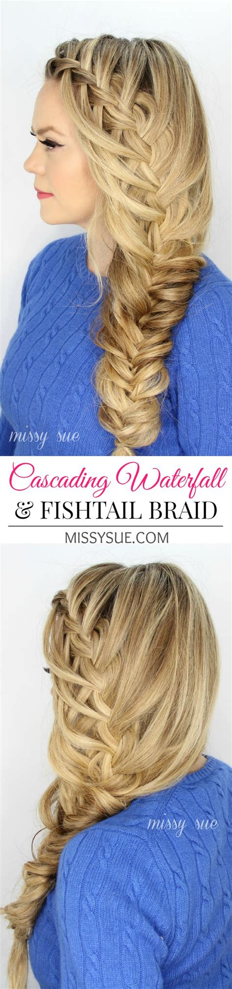 easy cascading braids hairstyles 1000 ideas about fishtail waterfall braids on pinterest