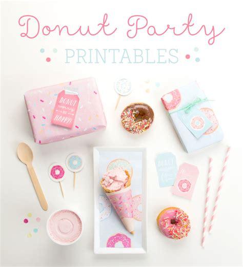 printable birthday favors kara s party ideas free donut party printables kara s