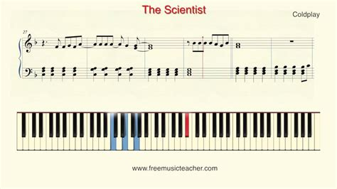 tutorial piano coldplay how to play piano coldplay quot the scientist quot piano tutorial