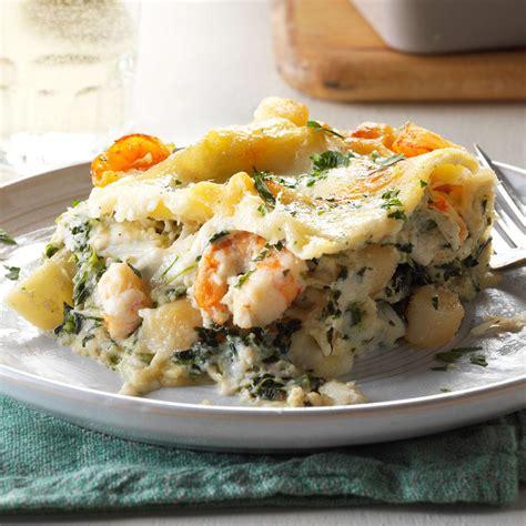 white seafood lasagna recipe taste  home
