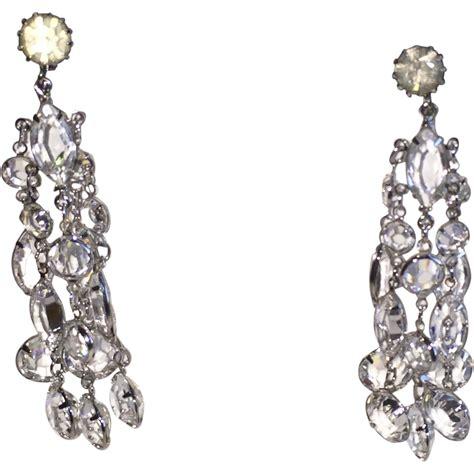 chandelier clip earrings vintage clip on earrings chandelier from phalan on