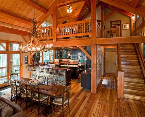 log cabin rooms beautiful log cabin dining room country livin pinterest