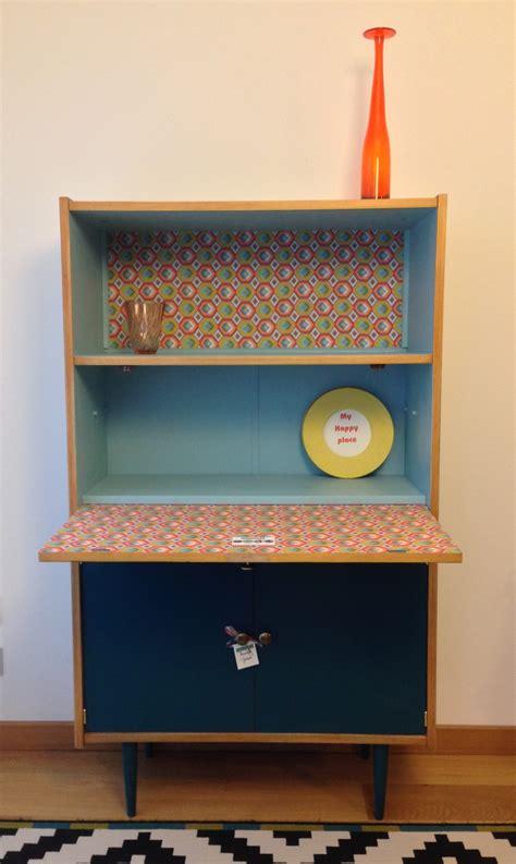 meuble bureau fermé avec tablette rabattable