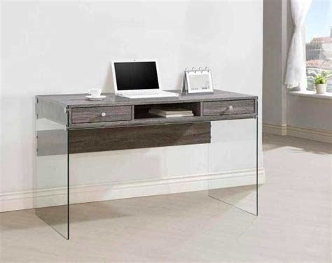 grey office desk grey modern desk with glass legs co 818 desks