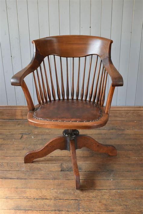 wooden rocking desk chair antique vintage wooden captain s swivel office desk chair
