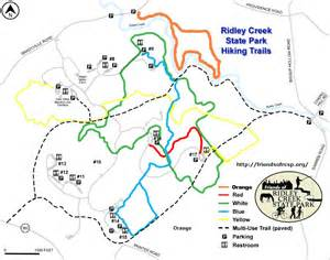 Ridley Creek State Park Map by Friends Of Ridley Creek State Park Trail Map