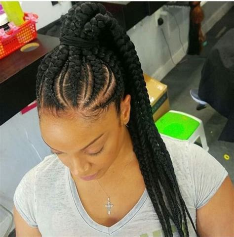 Braid Ponytail Hairstyles by Attractive 8 Feed In Braids Ponytail For