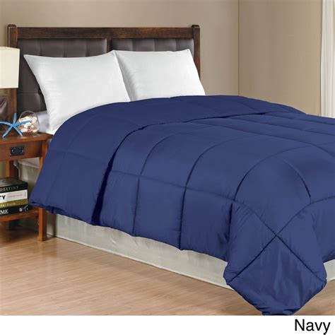overstock down comforter king solid color microfiber down alternative comforter