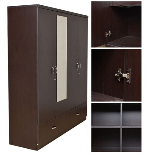 Where Can I Buy A Wardrobe Buy Utsav Four Door Wardrobe With Mirror By Hometown