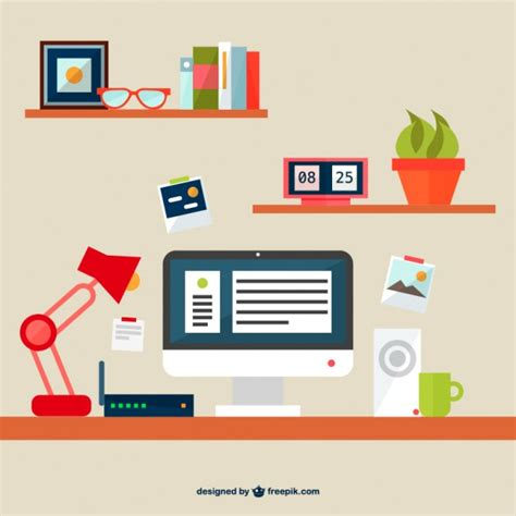 office space free flat illustration office space free vector free vectors