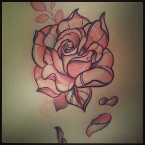 traditional style rose tattoo traditional designs neo traditional