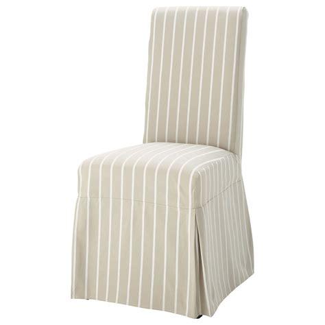 housse longue de chaise 224 rayures en coton beige margaux