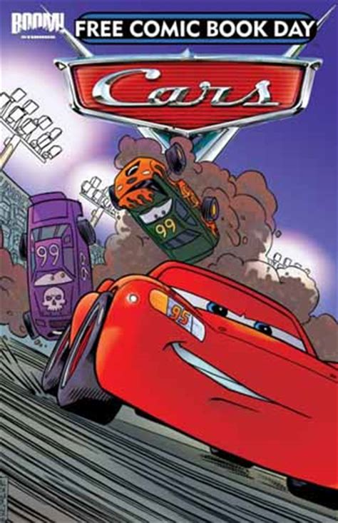 disney pixar cars the books of cars 2009 update take five a day cars 1 the rookie available on free comic book day upcoming pixar