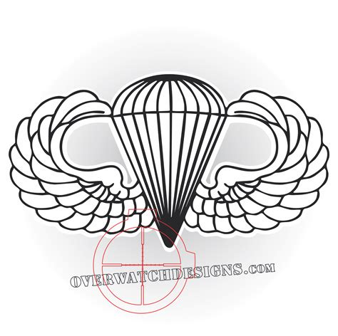 army parachute coloring pages airborne wings overwatch designs