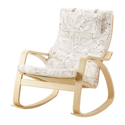 sedia poang po 196 ng sedia a dondolo vislanda nero bianco ikea