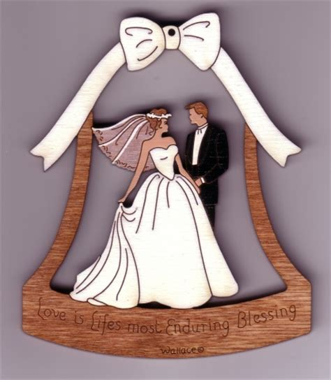 Wedding Bell by Wedding Bell 085 14 95 Wallace Wood Ornaments