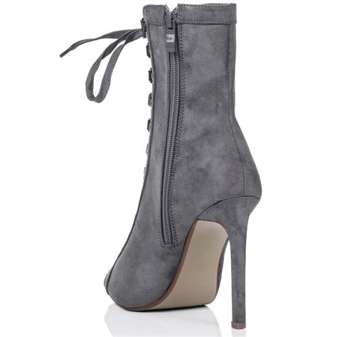 xcrush grey ankle boots shoes from spylovebuy
