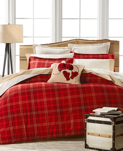 queen flannel duvet cover closeout martha stewart collection appleton plaid flannel duvet cover created for