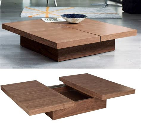 Wood Coffee Table With Storage Square Wood Coffee Table With Storage Home Decorating Trends Homedit