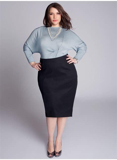 michaela curvy plus size pencil skirt in black