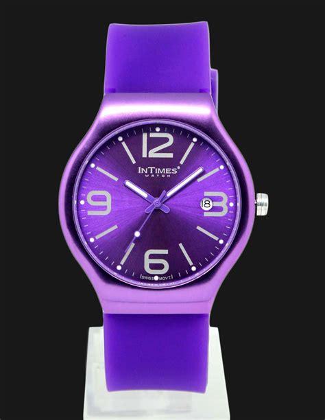 Jam Tangan Pria Warna Ungu intimes it088 purple jam tangan unisex ungu jamtangan
