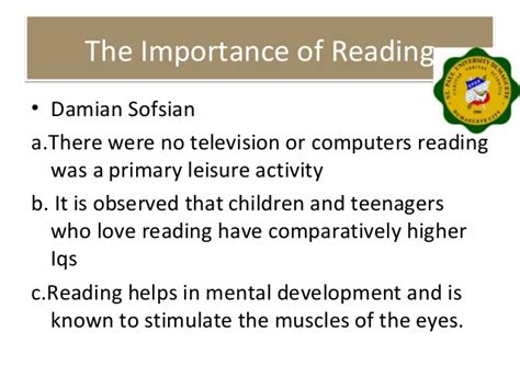 Importance Of Reading Essay by The Importance Of Reading Mfawriting332 Web Fc2