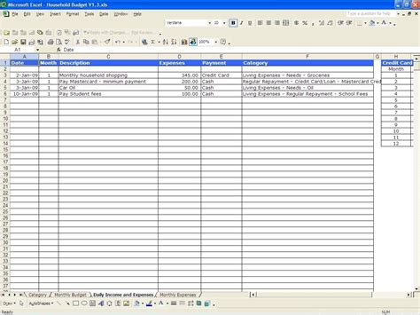 track expenses excel excel business expense tracker template sample