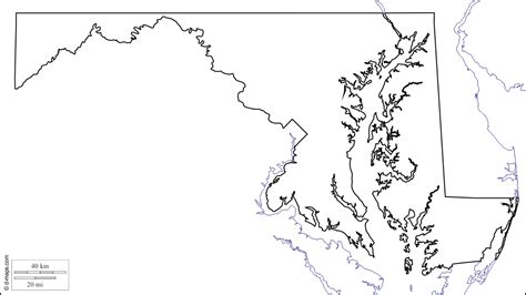 map of maryland outline blank map of maryland
