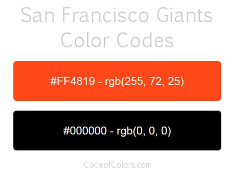 giants colors san francisco giants colors hex and rgb color codes