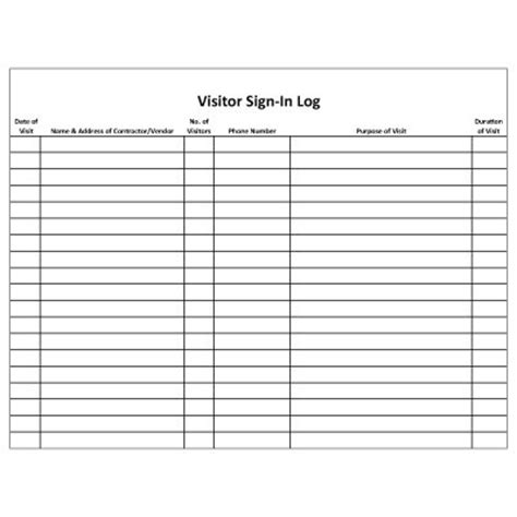 alarm log book template mining security forms visitor log security forms seton