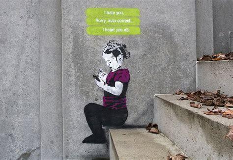 street art stencils show social media culture  graffiti