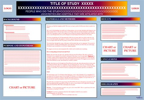 poster templates free for word 7 best images of academic research poster presentation