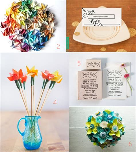 Wedding Origami - 21 origami wedding decoration ideas