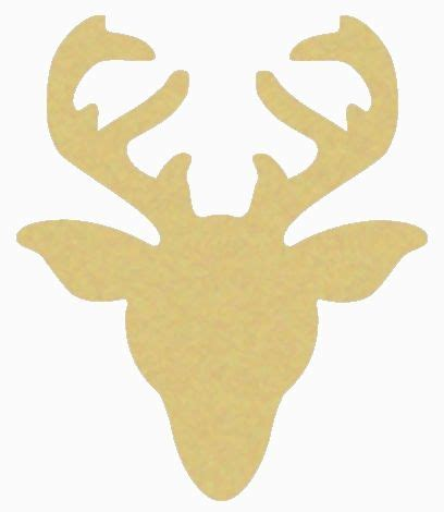 reindeer head unfinished cutout wooden shape paintable