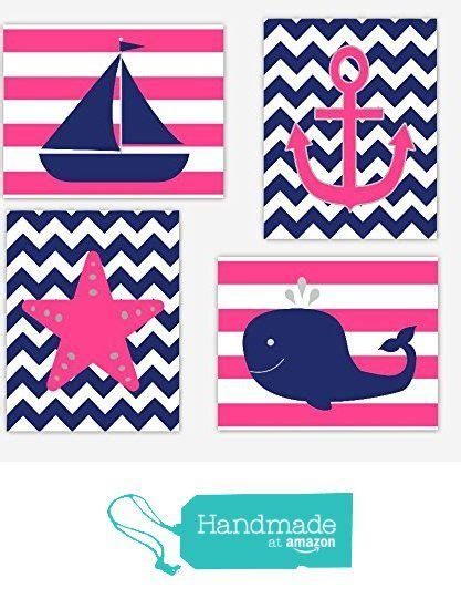 nautical design baby nautical baby girl nursery wall art pink navy blue