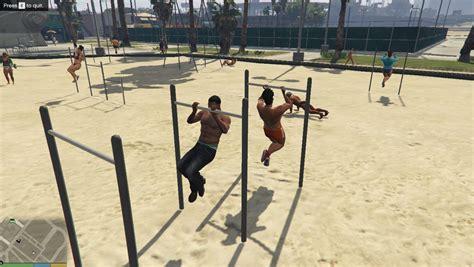 mod game volleyball gymnasium net gta5 mods com