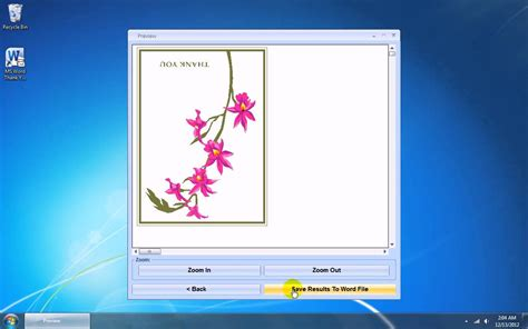 thank you card template word 2007 how to use ms word thank you card template software